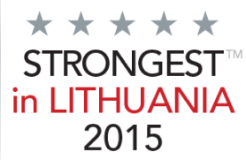 Sertifikatas strongest in Lithuania 2015