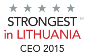Sertifikatas strongest in Lithuania CEO 2015