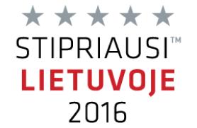 Sertifikatas stipriausi Lietuvoje 2016