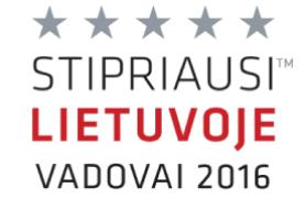 Sertifikatas stipriausi Lietuvoje vadovai 2016